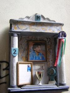 Altare a Maradona a Napoli
