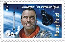 Il francobollo dedicato ad Alan Shepard