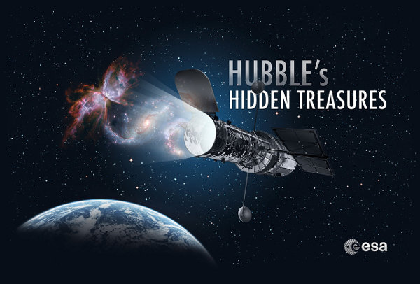 Il logo del concorso Hubble's Hidden Treasures (immagine NASA & ESA)