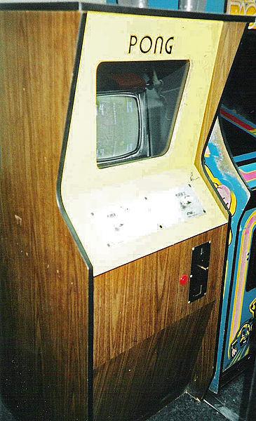 La versione a cabina del videogioco Pong della Atari