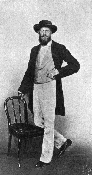 Alfred Russel Wallace nel 1862