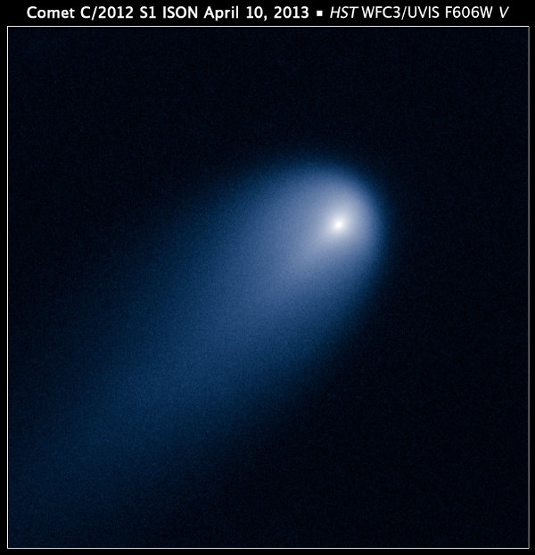 La cometa ISON fotografata dal telescopio spaziale Hubble (Foto NASA, ESA, J.-Y. Li (Planetary Science Institute), and the Hubble Comet ISON Imaging Science Team)