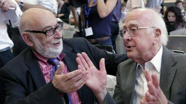 François Englert e Peter Higgs (Foto cortesia CERN. Tutti i diritti riservati)