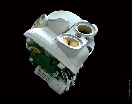 Il cuore artificiale prodotto da Carmat (Foto cortesia Carmat. Tutti i diritti riservati)