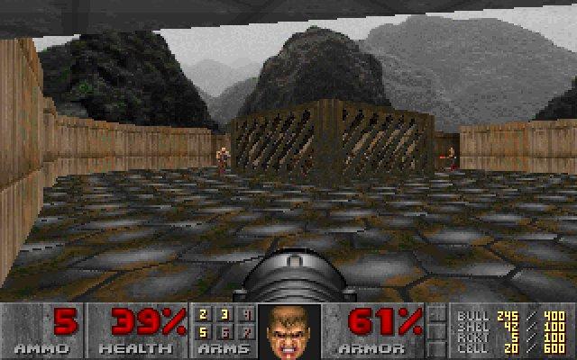 Schermata dall'inizio del livello segreto di Doom