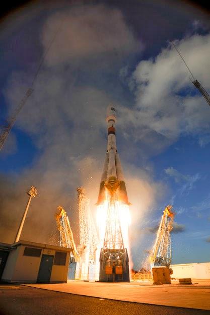 Il satellite Sentinel-1A subito dopo il lancio (Foto ESA–S. Corvaja)
