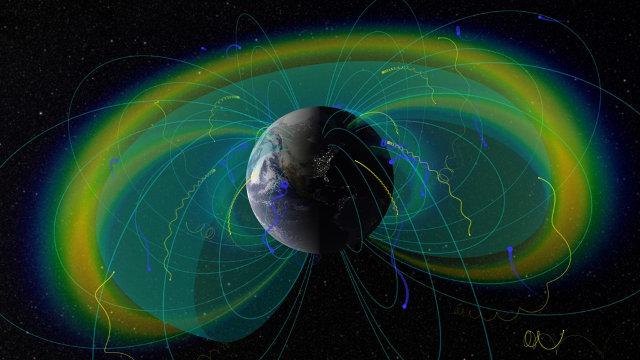 Sezione delle fasce di van Allen (Immagine NASA/Goddard/Scientific Visualization Studio)