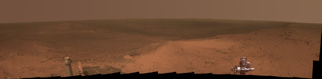 Il panorama visto dal Mars Rover Opportunity in cima a Cape Tribulation (Immagine NASA/JPL-Caltech/Cornell Univ./Arizona State Univ.)