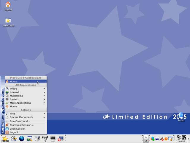 Il desktop della Mandriva Limited Edition 2005