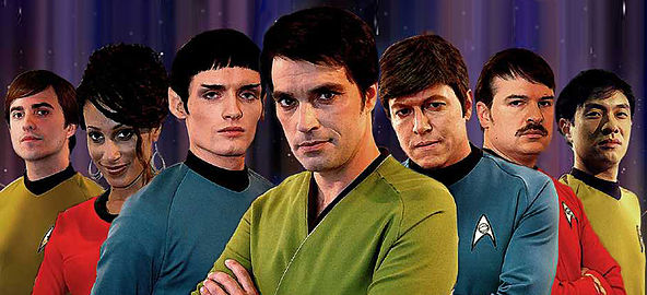 Il cast originale della serie web Star Trek: New Voyages (Foto cortesia Star Trek: New Voyages/Phase II. Tutti i diritti riservati)