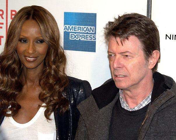 David Bowie con la moglie Iman nel 2009