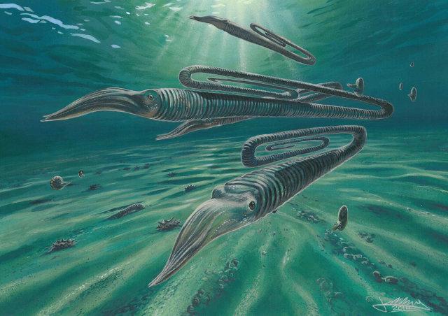 Ricostruzione dell'ambiente marino in Antartide alla fine del Cretaceo (Immagine cortesia James McKay)