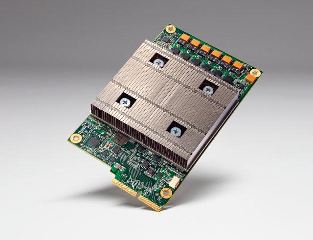 Una scheda Tensor Processing Unit (Foto cortesia Google)