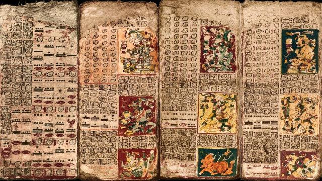 Una parte del Ciclo di Venere contenuto nel Codice di Dresda (Foto cortesia University of California - Santa Barbara)