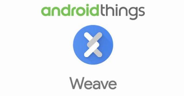 I loghi di Android Things e Weave (Immagine cortesia Google)