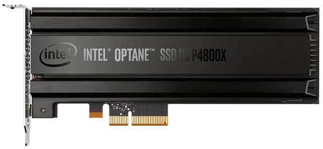 Intel Optane SSD DC P4800X (Immagine cortesia Intel)