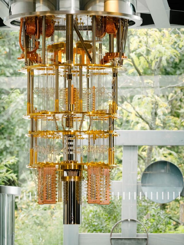 Il sistema a 50 qubit di IBM (Foto cortesia IBM)