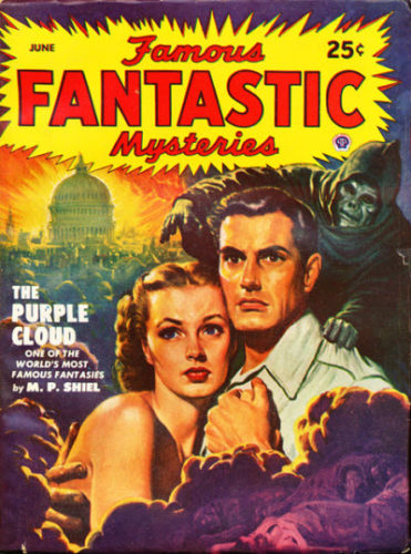La nube purpurea di M.P. Shiel (Famous Fantastic Mysteries. All-Fiction Field, Inc. / Lawrence Sterne Stevens)