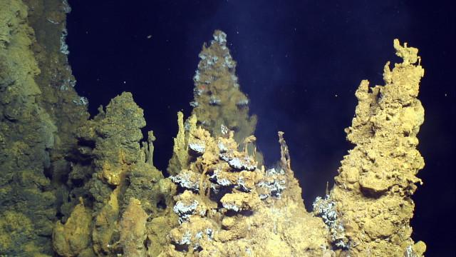 Sorgente idrotermale del sito di Urashima (Foto Cortesia Submarine Ring of Fire 2014 - Ironman, NSF/NOAA, Jason, Copyright WHOI)