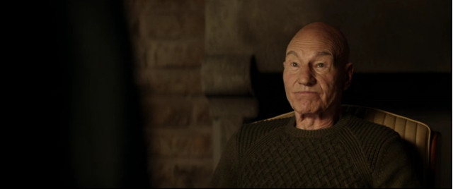 "Jean-Luc Picard (Patrick Stewart) in ""Mappe e Leggende"" (Immagine cortesia CBS All Access/ Amazon Prime Video)"