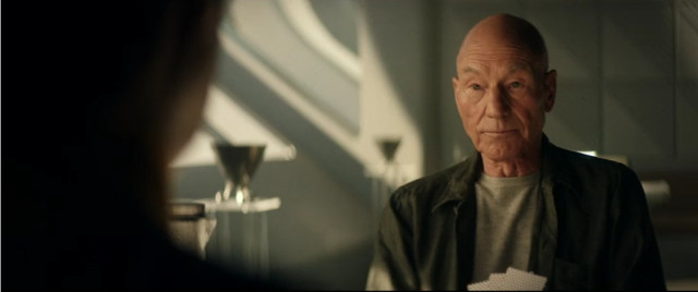 Jean-Luc Picard (Patrick Stewart) in Ricordi (Immagine cortesia CBS All Access/ Amazon Prime Video)