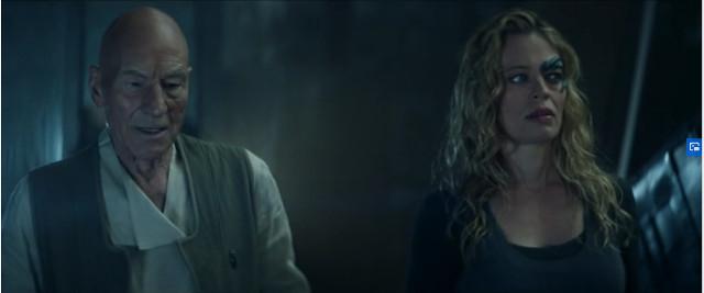 Jean-Luc Picard (Patrick Stewart) e 7 di 9 (Jeri Ryan) in Et in Arcadia Ego, Parte 1 (Immagine cortesia CBS All Access/ Amazon Prime Video)