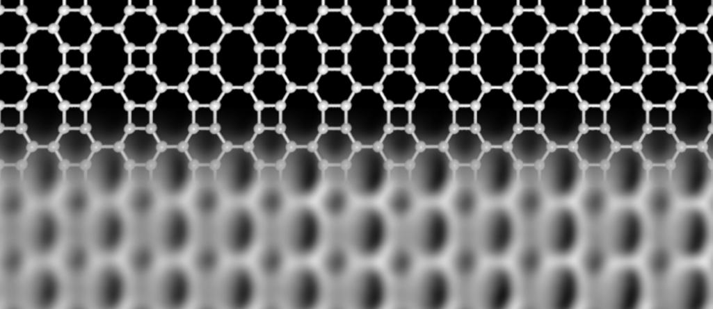 La struttura della rete di bifenilene