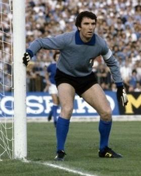 Dino Zoff in Italia-Inghilterra al Campionato europeo 1980