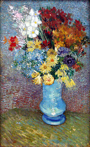 Fiori in vaso blu di Vincent Van Gogh