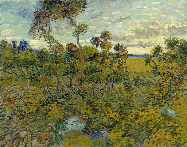 Tramonto a Montmajour di Vincent Van Gogh