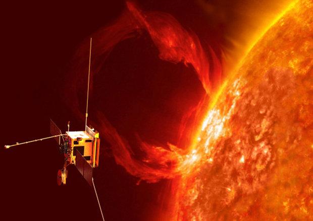 Concetto artistico della sonda spaziale Solar Orbiter durante la sua missione (Immagine ESA/AOES)