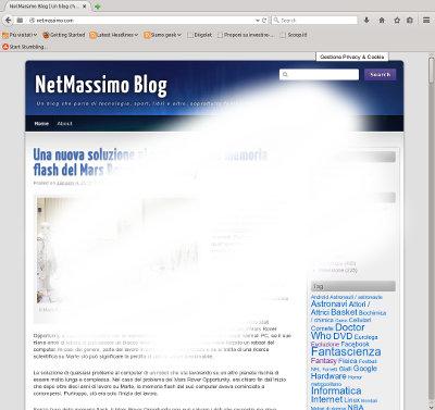 """Un """"white screen of death"""" provoca lo """"sbiancamento"""" di un blog. L'immagine non rispecchia letteralmente il problema!"""