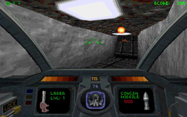 Schermata dall'originale videogioco Descent