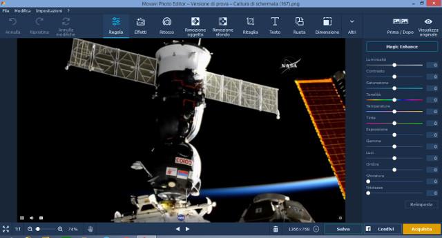 Schermata di Movavi Photo Editor