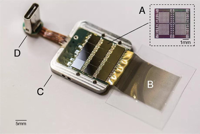 Il chip di Neuralink (Immagine cortesia Neuralink)